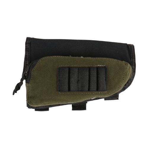 Allen Company Buttstock Shell Holder and Pouch for Rifles, Green/Black, One Size (20550)