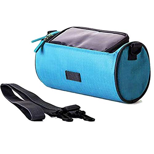zxvc 1PC Waterproof Bicycle Handlebar Bag,Multifunctional Portable Bag Bike Front Tube Handlebar Bag with Touch Screen Transparent PVC Pouch,Adjustable Strap High-Capacity Cycling Front Pack