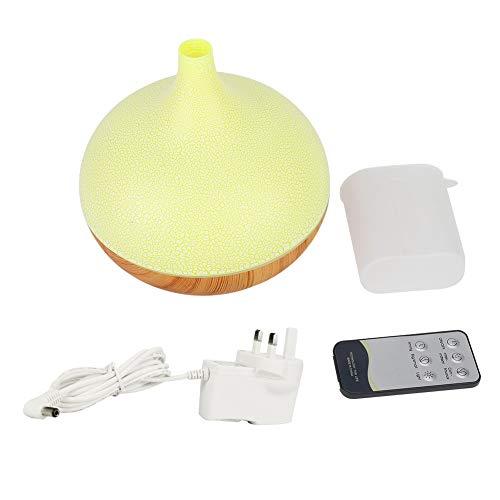 Pelnotac Humidificador de aire, humidificador de control remoto con luz nocturna LED diseño minimalista decoraciones de escritorio para oficina en el hogar (enchufe británico 100-240V)