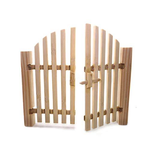 TOYANDONA Fee Gartentor 1:12 Puppenhaustür Miniatur Gartenzaun Holz Handwerk DIY