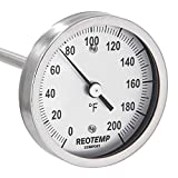 REOTEMP Heavy Duty Compost Thermometer - Fahrenheit (36 Inch Stem), Made in The USA