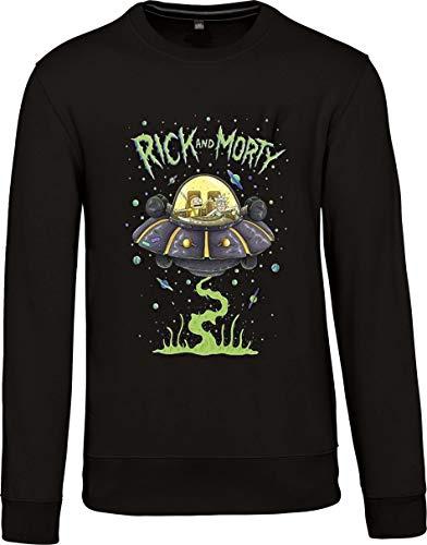 SAGACE Sudadera para Hombre Sudadera sin Capucha Sudadera Ultima Moda Jersey Sudadera para Hombre Rick Morty (S)