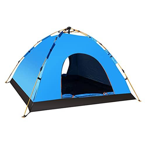 LAMA Pop Up Kuppelzelt 2 Personen Automatisches Camping Zelt Wasserdicht Anti-UV Campingzelt Winddicht Instant Zelt für Camping Wandern Angeln Trekking Festival Outdoor 195 x 135 x 115 cm Blau
