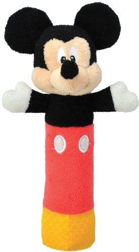 Disney Baby Mickey Mouse Plush Stick Rattle, 7""