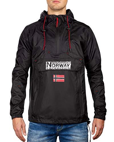Geographical Norway Chaqueta cortavientos para hombre Negro XL