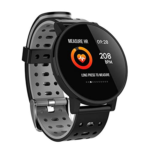 kkart Smart Watch Activity Fitness Tracker 1,3' Inch Color Screen HR Blood Oxygen Blood Pressure Clock Men Women Smartwatch with Waterproof Gray