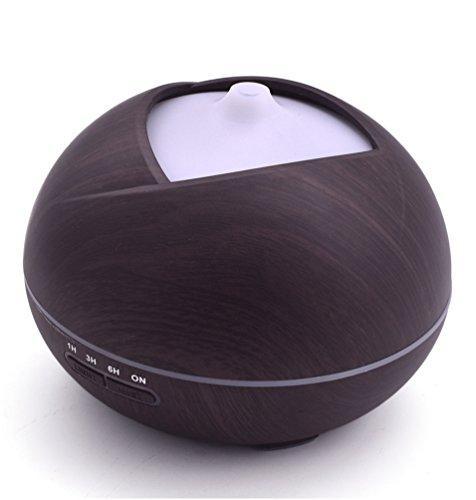 Shenhai Máquina de aromaterapia Mini humidificador Humidificador de Aroma Mini lámpara de Fragancia, Grano de Madera Profunda