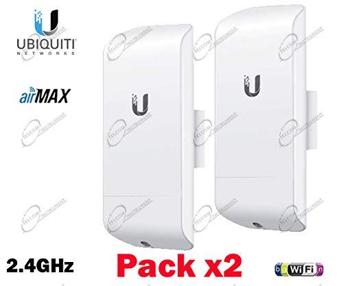 Ubiquiti Networks 2X NanoStation Loco M2: LOCOM2 AirMax 2.4 GHz CPE (UBNT), 2er-Set