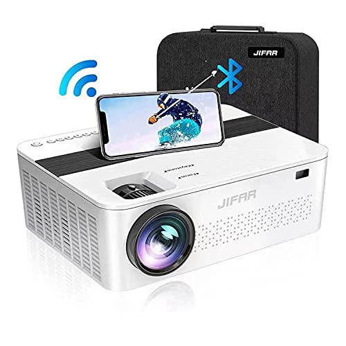 WiFi Bluetooth Native 1080P Projector with 450'Display,9000 Lux HD 4K Projector for Outdoor Movies,Support 4k,Dolby,Zoom, Keystone Correction,Compatible with TV Stick,HDMI,VGA.USB,Smartphone,PC