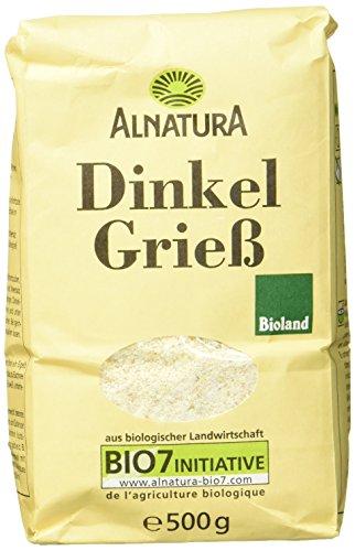 Alnatura Bio Dinkelgrieß, 6er Pack (6 x 500 g)