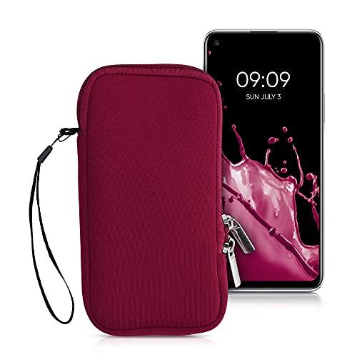 kwmobile Funda para móviles de XL - 6,7/6,8' - Estuche de Neopreno con Cierre para móvil - Carcasa en Rojo