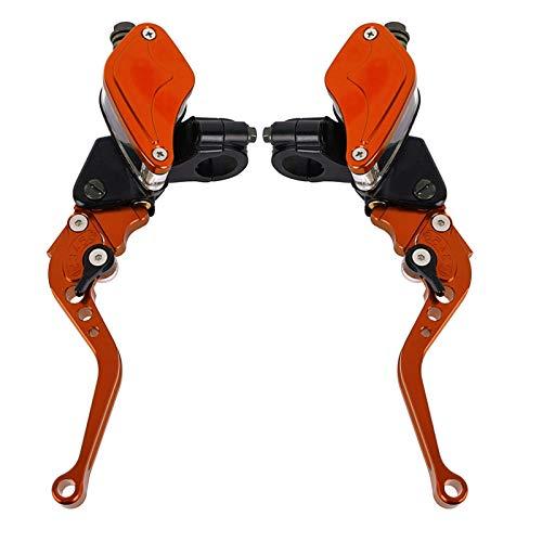 Juego de Palanca de Embrague de Freno hidráulico de Motocicleta de 7/8'22 mm con depósito de Cilindro Maestro Embrague Motocicleta (Color : F)