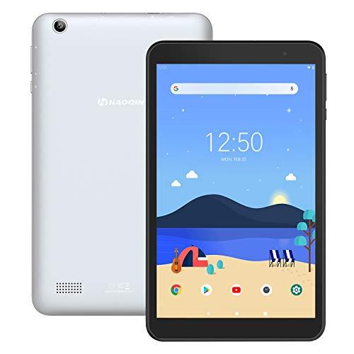 Tablet 8-Zoll Android 9.0 32GB - HAOQIN H8 Pro Quad Core 2GB RAM 1280 x 800 HD IPS Displays WiFi Bluetooth FM Google Zertifiziertes (Grau )