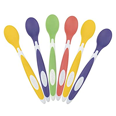 Dr. Brown's Soft-Tip Toddler Feeding Spoons, 6 Pack, Multi from AmazonUs/DRDJ9
