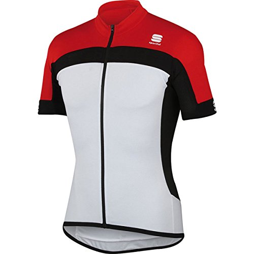 Sportful Maillots Pista Long Zip White/Red Xl