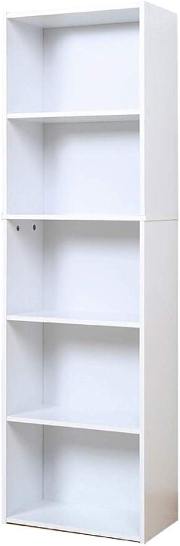 Small Bookcase Bookshelf Storage Cabinet, Study Cabinet Living Room Bedroom Storage, Wooden Cabinet, 5th Floor