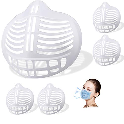 [5 PCS]3D Face Bracket,Face Breathe Cup,Reusable Cool Stand Insert Turtle to Keep Fabric Off,Clear