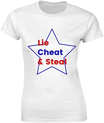 Lie Cheat and Steal Star Funny - Camiseta para mujer