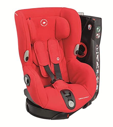 Bébé Confort Axiss Asiento de Coche Giratorio Grupo 1 (9-18 kg), Rojo (Nomad Red), 57.5 x 43.5 x 63 cm + Maxi-Cosi e-Safety Dispositivo antiabandono para silla de coche