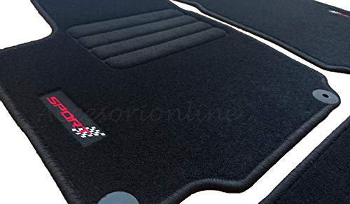 Accesorionline Alfombrillas para Seat Cordoba Todos los Modelos, alfombras a Medida - esterillas Anclajes Originales (Cordoba 1996-1999)