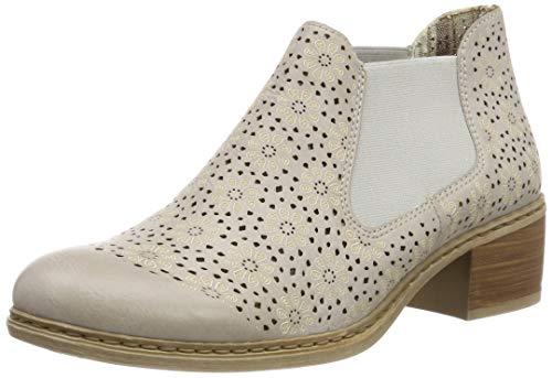 Rieker Damen 57696-80 Chelsea Boots, Weiß (Ice 80), 42 EU