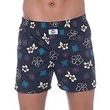 D.E.A.L International Boxershorts Blau mit Sommerlichen Blüten Größe M