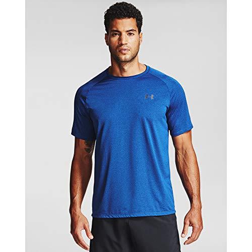 Under Armour UA Tech 2.0 SS tee Novelty, Camiseta Deportiva para Hombre, Hombre, Manga Corta, 1345317, Royal (400)/Negro, L Tall