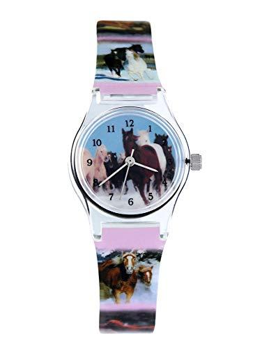 Pacific Time Mädchen Uhr Analog Quarz mit Kunststoffarmband 20569