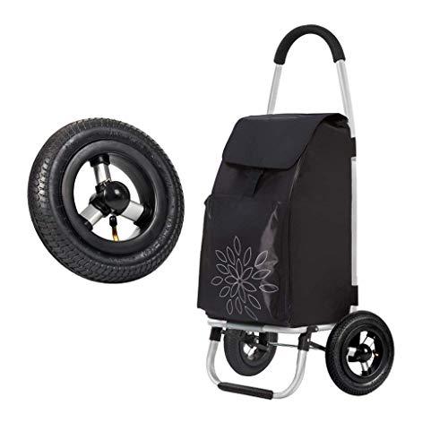 ZTMN Chariot de Transport portatif Petit Chariot de carport en Aluminium escalier pliant escalier escalier Transport Maison (Couleur: Noir)