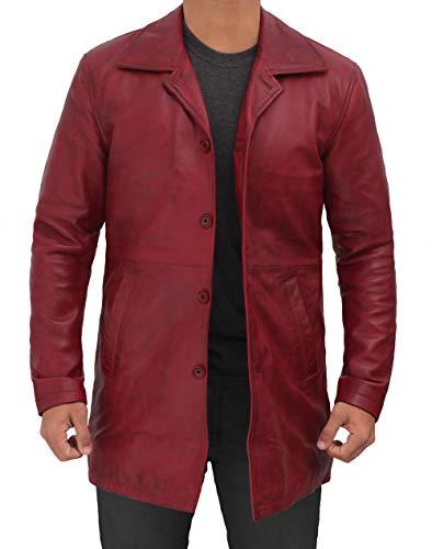 Fjackets red leather jacket men new | [1507114] Suprnatural Maroon Wax, L