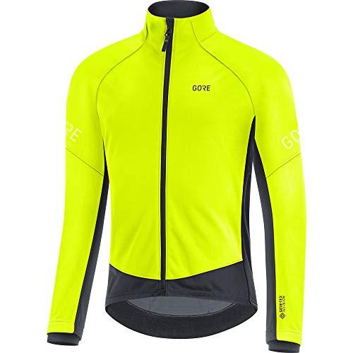 GORE WEAR Chaqueta térmica de ciclismo para hombre, C3, GORE-TEX INFINIUM, L, Amarillo neón/Negro