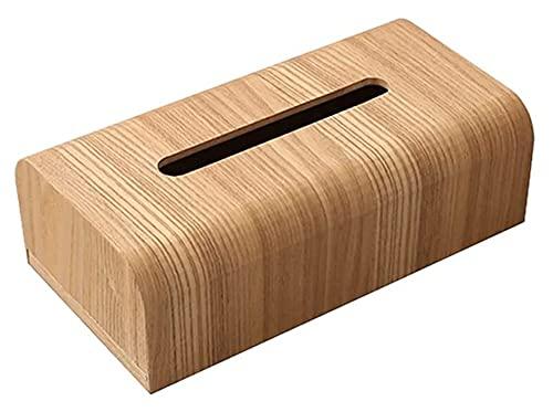 sacfun Caja de Tejido de Madera de Nuez Cocina de baño Tabla de Papel Caja de Almacenamiento de Escritorio Creativo Simple Sala de Estar Cajas de Tejido (Color : A)