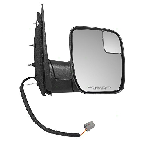 Power Side View Mirror with Spotter Glass Sail Type Passenger Replacement for 09-14 Ford E-Series Van AC2Z 17682 AA