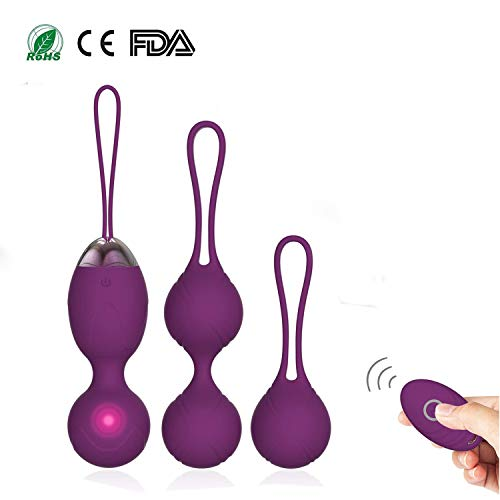 Kegel Balls Kit Exercise Weights - kegel balls 2 in 1 Massager Ben Wa Balls per principianti Upgradeed Silicone Wireless Remote Control Massager ricaricabile Pavimento pelvico Kegel Esercizio