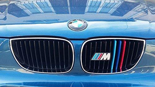 BizTech ® Insertos de Rejilla con Clip Compatible con BMW Serie 1 E87 2003-2011 12 Vigas Barras M Power M Sport Tech Capó Capucha Cubierta de Rayas renales