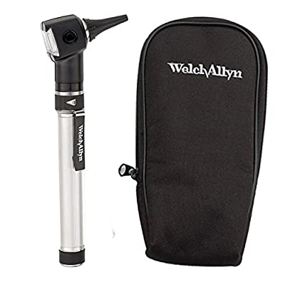 Welch Allyn Otoscope Set with AA Handle, Soft Case and 20 Specula