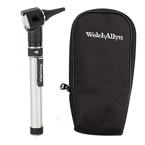 Welch Allyn Otoscope Set with AA Handle, Soft Case and 20 Specula (Batteries Included