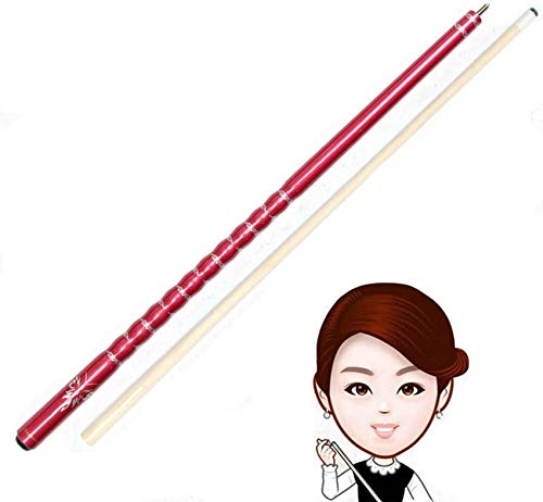 WEHOLY Pool Cue, 52 Inch Maple 1/2 Piece Creative Handmade Snooker Cue 13mm Screw On Tips Pool Cue