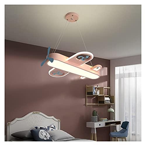 YSJSPOL Iluminación de Techo Lámpara Colgante LED Moderna para la habitación de los niños Dormitorio Casa Inicio Avión Colgante Techo Araña Decoración Luz de Lighture (Body Color : Pink, Size : Warm)