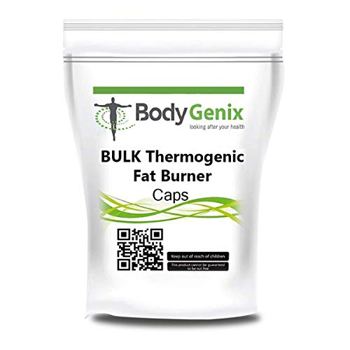 BODYGENIX Thermogenic Fat Burner Supplement | Comes with Caffeine, Green Tea, Capsaicin and Other Plant extracts | Support metabolic Function, Weight Loss and Energy Support| 60 Capsules (120)