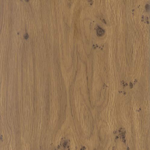 Klebefolie Perfect Fix® Eiche Astig, Holzfolie, Dekofolie, Möbelfolie, Tapeten, selbstklebende Folie, ohne Phthalate, keine Luftblasen, Natur-Holzoptik, 67,5cm x 2m, Stärke: 0,15 mm, Venilia 53349