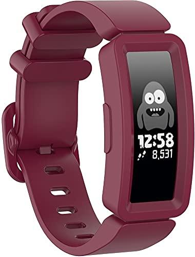Chainfo Correa de Reloj Compatible con Fitbit ACE2 / Inspire/Inspire HR, Silicona Banda de Reemplazo Pulsera (Pattern 12)