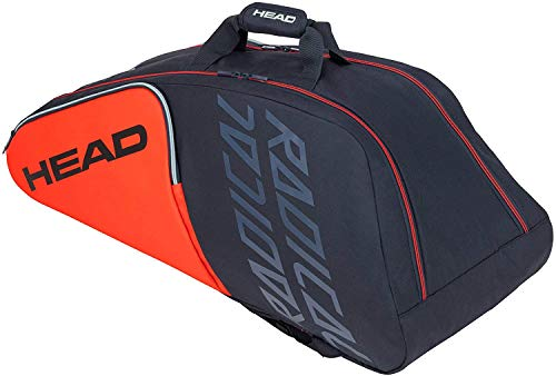 Head Radical 9R Supercombi, Borsa da Tennis Unisex-Adulti, Arancione/Grigio, Taglia Unica
