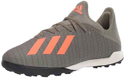adidas Men's X 19.3 TF Football Shoe, legacy green/solar orange/chalk White, 8 Standard US Width US