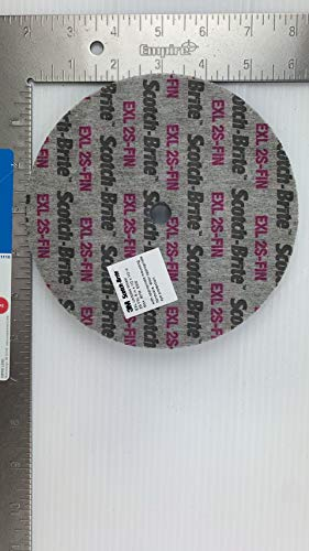 4/Pk 3M 13719 Scotch-Brite Exl Unitized Wheel 6 Inch X 1/2 Inch X 1/2 Inch 2S Fin // 7000028478
