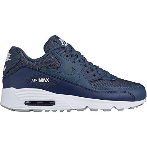 Nike Herren Air Max 90 Mesh (gs) Leichtathletikschuhe, Mehrfarbig (Monsoon Blue/Monsoon Blue/Midnight Navy 000), 38 EU