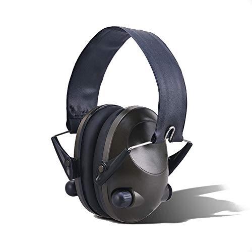 DMMW Schalldichte Ohrenschützer Ohrenschützer Verstellbare Geräuschreduzierung Sicherheit Gehörschutz mit einem Gehörschutz für Erwachsene Verstellbares Stirnband (Color : Black, Size : Free Size)