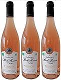 Chinon Bio 2018 - Vin Rosé sec AOC en lot de 3 bouteilles de 75cl.