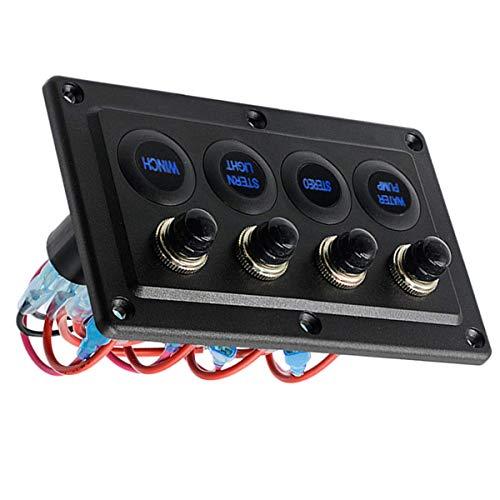 Panel de interruptores Panel de control universal de un solo toque Piezas de repuesto para vehículos recreativos y vehículos recreativos de 12-24 V