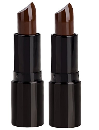 Professional Hair Chalk Lipstick Hair Color Pen Non-toxic Olive Oil In Cover White Crayon Temporary Hair Dyeing (2 Packs-Coffee-Coffee)